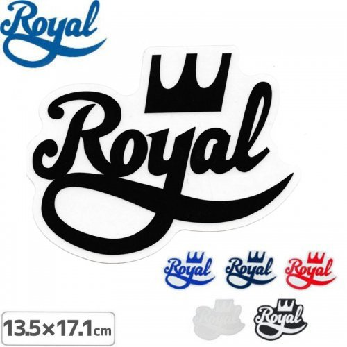 【ROYAL ロイヤル スケボー ステッカー】LOGO【6色】【13.5cmx17.1cm】NO23