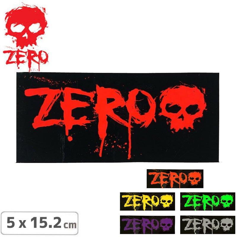【ゼロ ZERO スケボー ステッカー】Logo【5.1cm x 15.3cm】【6カラー】NO62