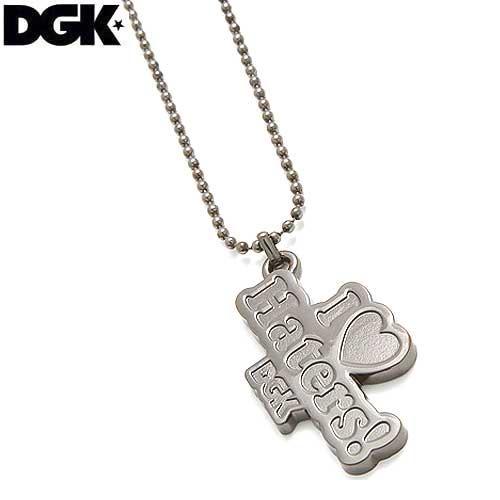 【ディージーケー DGK スケボー 小物 アクセサリー】HEARTS NECKLACE【シルバー】NO2