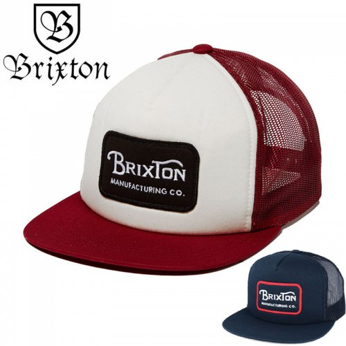 【BRIXTON スケボー キャップ】GRADE MESH CAP メッシュキャップ【ネイビー】【バーガンディ】NO14
