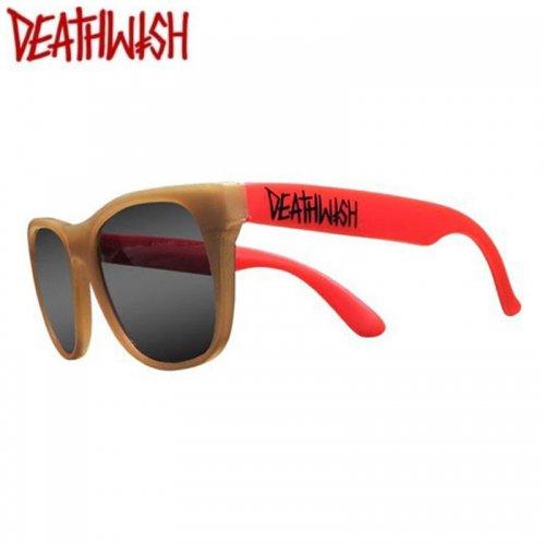 【デスウィッシュ DEATHWISH スケボー サングラス】CAUTION SHADES【レッド x ゴールド】NO7