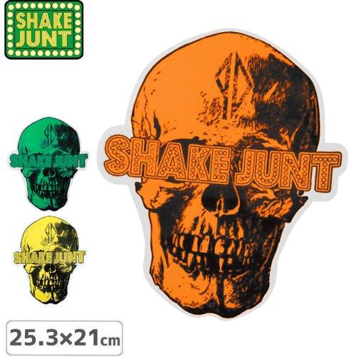 【シェイクジャント SHAKE JUNT STICKER ステッカー】SKULL【3色】【25.3cm x 21cm】NO2