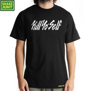 【シェイクジャント SHAKE JUNT スケボー Tシャツ】KILL YO SELY TEE【ブラック】NO2