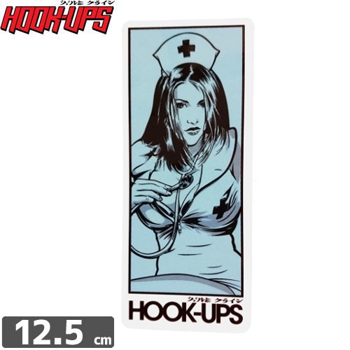 【フックアップス HOOK UPS スケボー ステッカー】【12.5cm x 5.2cm】NO51