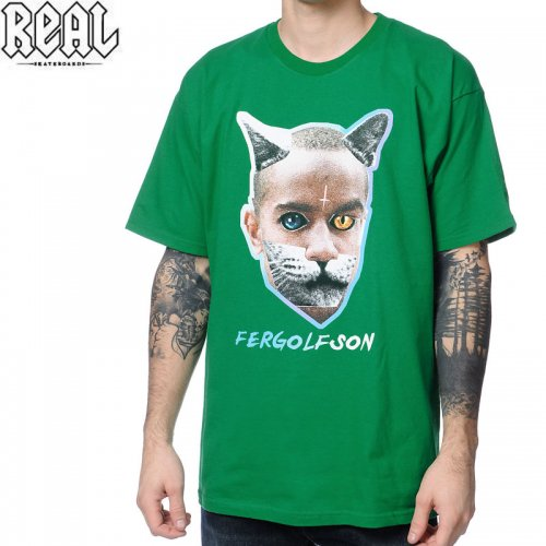 SALE! 【REAL リアル スケートボード Tシャツ】FUTURE FERGOLFSON TEE【ケリー グリーン】NO44