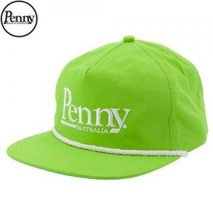 1週間限定セール!【ペニー PENNY スケボー キャップ】SNAP BACK HAT CAP【ネオン グリーン】NO1