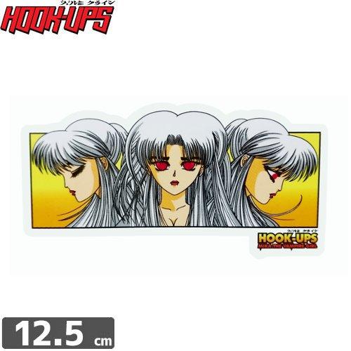 【フックアップス HOOK UPS スケボー ステッカー】【6.3cm x 12.5cm】NO56