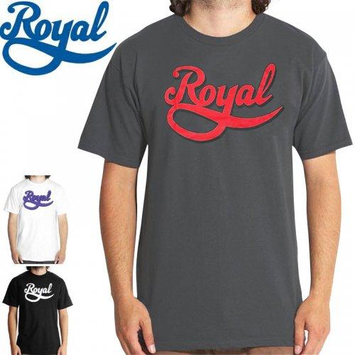 【ロイアル ROYAL スケボー Tシャツ】NEW SCRIPT TEE【3カラー】NO27