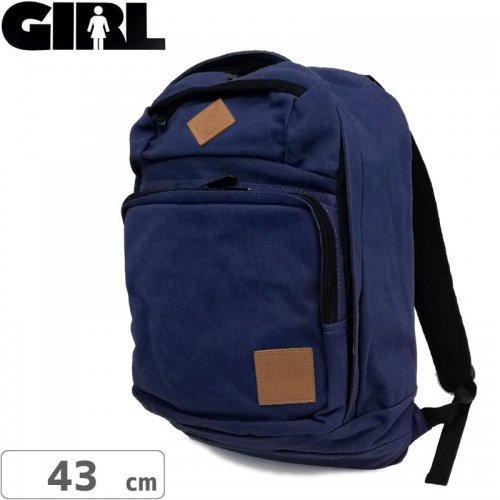 【GIRL ガールスケートボード バックパック】Simple Backpack【ブルー】NO09