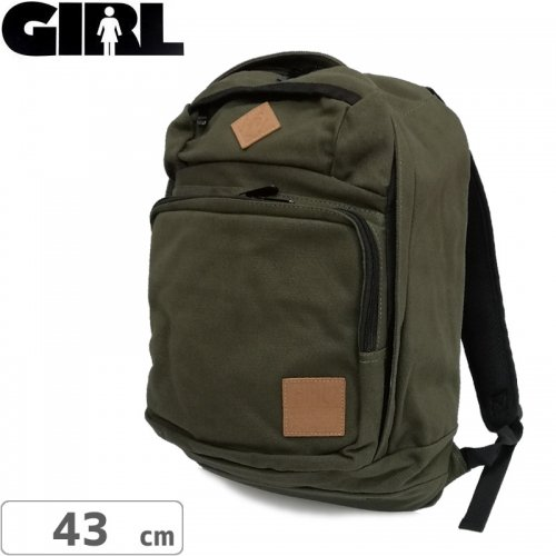 【GIRL ガールスケートボード バックパック】Simple Backpack【グリーン】NO10