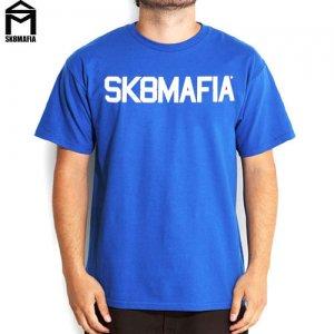 SALE! 【スケートマフィア SK8MAFIA スケボー Tシャツ】SKATEMAFIA COLLEGE TEE【ロイヤル ブルー】NO39