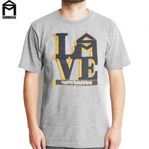 SALE! 【スケートマフィア SK8MAFIA スケボー Tシャツ】SKATEMAFIA LOVE SB 2.0 TEE【ヘザー グレー】NO42