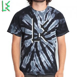 SALE! 【エルイー LE SKATEBOARDS Tシャツ】L.E. OG LOGO TIE DIE TEE【ブラック x グレー】NO1