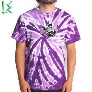SALE! 【エルイー LE SKATEBOARDS Tシャツ】L.E. DEVIL BAT TIE DIE TEE【パープル】NO2