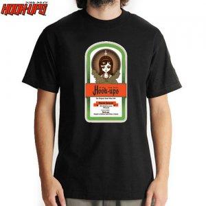 【HOOK UPS フックアップ スケボー Tシャツ】UPSMEISTER TEE【ブラック】NO37