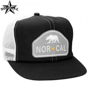 【ノーカル NORCAL スケボー キャップ】RANGER TRUCKER MESH HAT【ブラック x ホワイト】NO4