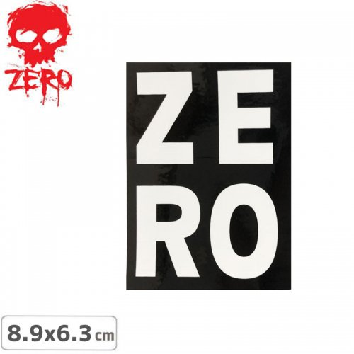 【ゼロ ZERO スケボー ステッカー】LOGO【8.9cm x 6.3cm】NO70