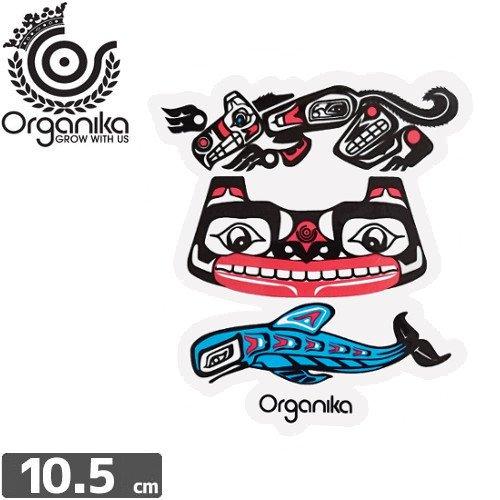 【オーガニカ ORGANIKA スケボー ステッカー】DECAL【10.5cm x 9.3cm】 NO30