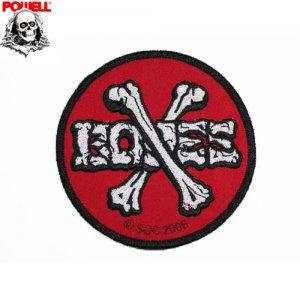 【パウエル POWELL スケボー ワッペン】POWELL BONES【9cm x 9cm】NO04