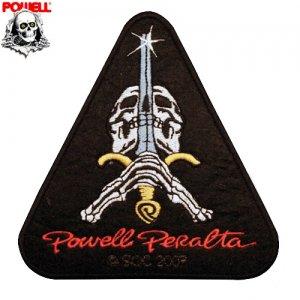 【パウエル POWELL スケボー ワッペン】SKULL AND SWORD【12cm x 10.5cm】NO05