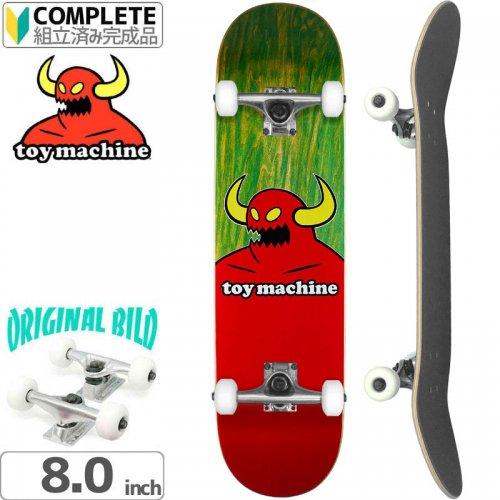 【トイマシーン TOY MACHINE スケートボード コンプリート】MONSTER DECK[8.375インチ]オリジナルビルド NO15