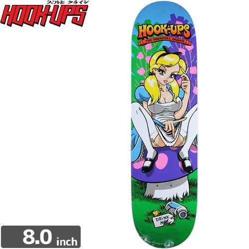 【フックアップス HOOK UPS スケートボード デッキ】ALICE DECK[8.0インチ]NO57
