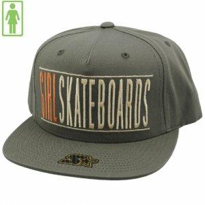 【GIRL SKATEBOARD ガールスケートボード キャップ】BARS STARTER SNAPBACK HAT【オリーブ】NO52