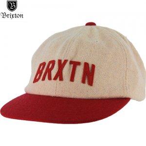 【BRIXTON ブリクストン キャップ】HAMILTON ウールキャップ【Heather Cream x Red】NO18