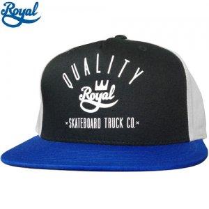 【ロイヤル ROYAL TRUCK  キャップ】WORKER SNAP BACK HAT【ブラック x グレー x ブルー】NO3