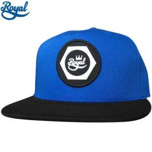 【ロイヤル ROYAL TRUCK  キャップ】NUT SNAP BACK HAT【ブルー x ブラック】NO4