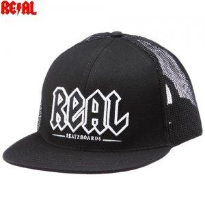 【リアル REAL SKATEBOARDS スケボー キャップ】REAL DEEDS TRUCKER HAT【ブラック】NO14