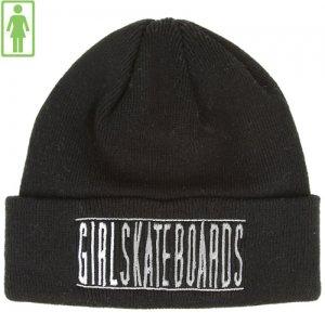 1週間SALE!【GIRL ガールスケートボード SKATEBOARD ニットキャップ】Bars Folded Beanie 折り返し【ブラック】NO17