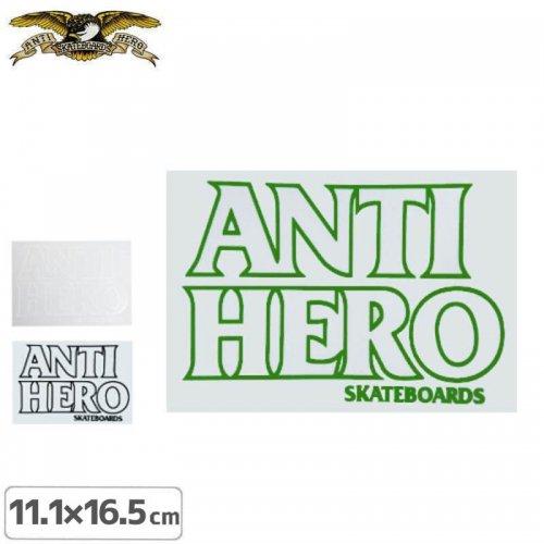 【アンタイヒーロー ANTIHERO スケボー ステッカー】BLACK HERO 3色【11.3cm x 16.5cm】NO23