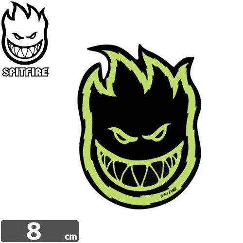 【スピットファイア SPITFIRE スケボー ステッカー】Fireball【ネオングリーン】【8cmx6cm】No.50