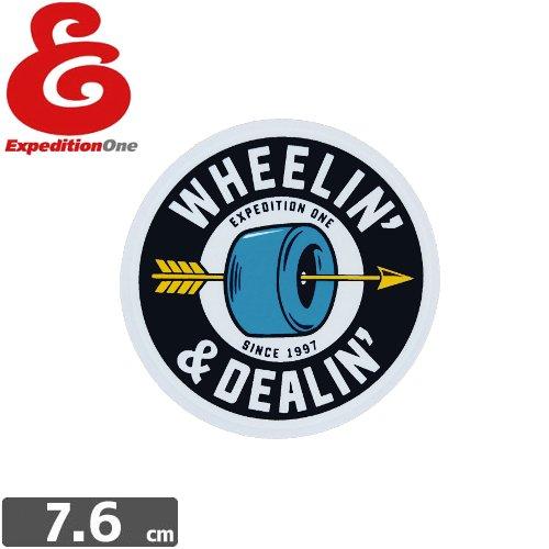 【エクスペディション ワン EXPEDITION ONE ステッカー】WHEELIN DEALING【7.6cm×7.6cm】NO50