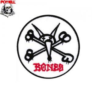 【パウエル POWELL スケボー ワッペン】Rat Bones【9cm x 9cm】NO06