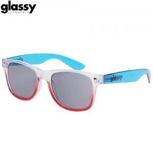 【グラッシーサンハッターズ GLASSY SUNHATERS サングラス】Clear【クリア x レッド x ブルー】NO05