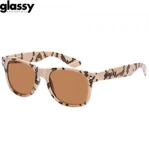 【グラッシーサンハッターズ GLASSY SUNHATERS サングラス】Leonard Sunglasses【ヘビ柄】NO09