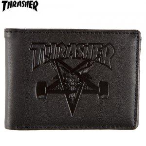 【スラッシャー THRASHER サイフ】Skate Goat Leather Wallet【ブラック】NO03