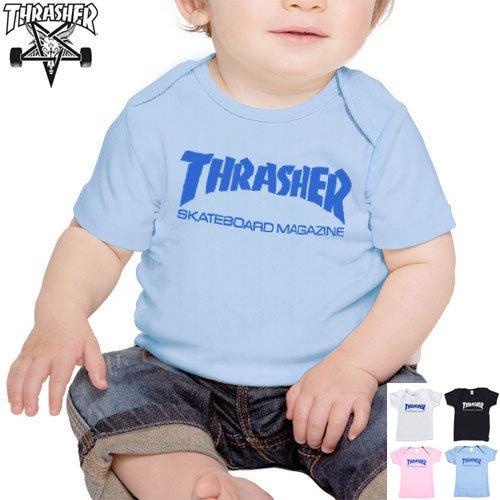 【スラッシャー THRASHER ベビー Tシャツ】INFANT SKATE MAG TEE【ブラック】【ブルー】【ピンク】【ホワイト】NO8