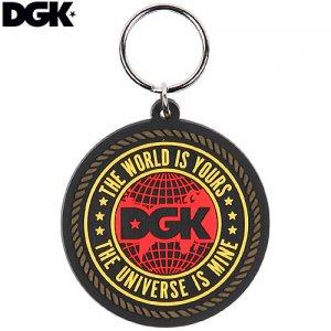 【DGK ディージーケー キーホルダー】UNIVERSE KEYCHAIN【ブラック x イエロー x レッド】NO9