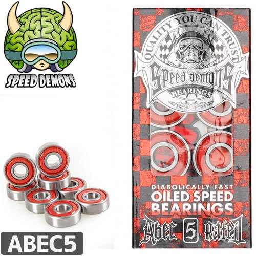 【SPEED DAMON スピードデーモン スケートボード ベアリング】OILED SPEED BEARING【ABEC5】NO1