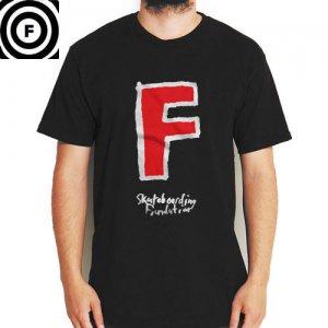 SALE! 【ファンデーション FOUNDATION スケボー Tシャツ】SUPER F TEE【ブラック】NO27