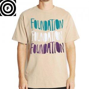 SALE! 【ファンデーション FOUNDATION スケボー Tシャツ】PARTY TEE LOGO TEE【タン】NO28