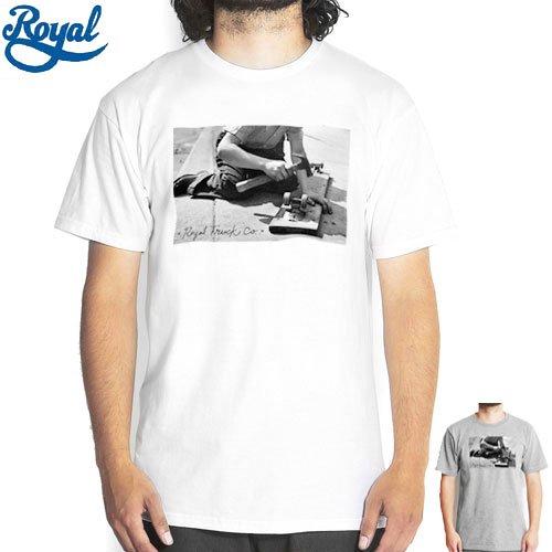 【ロイアル ROYAL スケボー Tシャツ】VINTAGE TEE【ホワイト】【ブラック】NO30