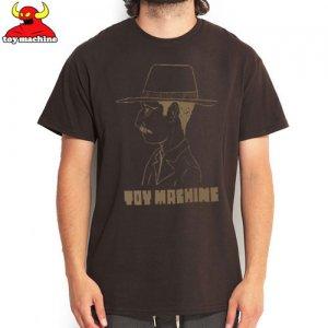 【トイマシーン TOY MACHINE スケボー Tシャツ】OLD MAN TEE【ブラウン】NO176