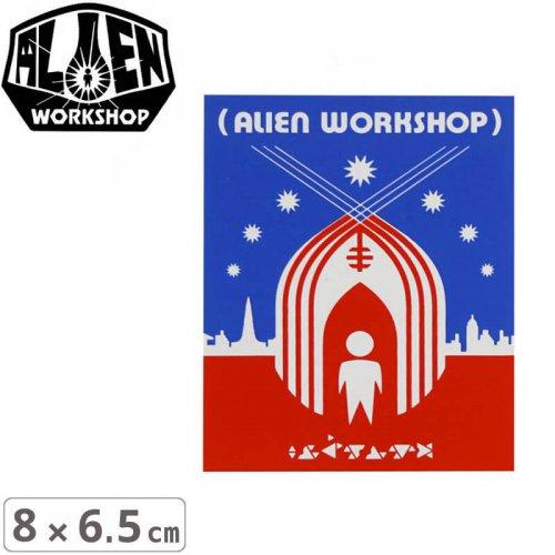 【エイリアンワークショップ ALIENWORKSHOP ステッカー】SHELTER【8cm x 6.5cm】NO36