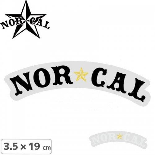【ノーカル NOR CAL ステッカー】NAUTICAL STICKER【2色】【19cm x 3.5cm】NO15
