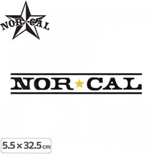【ノーカル NOR CAL ステッカー】LOGO STICKER【32.5cm x 5.5cm】NO22
