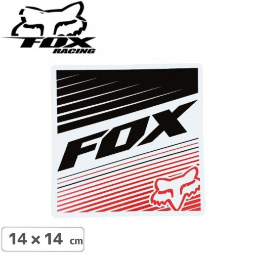 【FOX RACING フォックス ステッカー】【14cm x 14cm】NO7